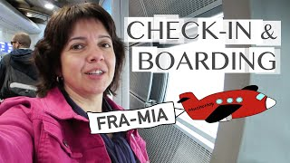 Flying to Miami: Check-in and Boarding at Frankfurt Airport