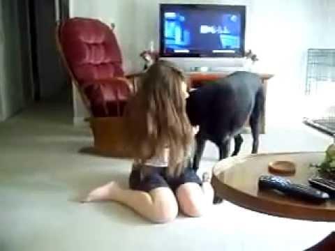a and her dog que juegan con los perros