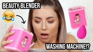 I GOT SCAMMED! BEAUTY BLENDER WASHING MACHINE REVIEW. I CAN'T BELIEVE I BOUGHT THIS..