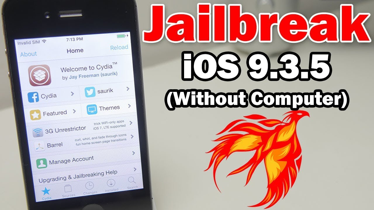 How to Jailbreak iOS 9 3 5 Without a Computer Using Phoenix