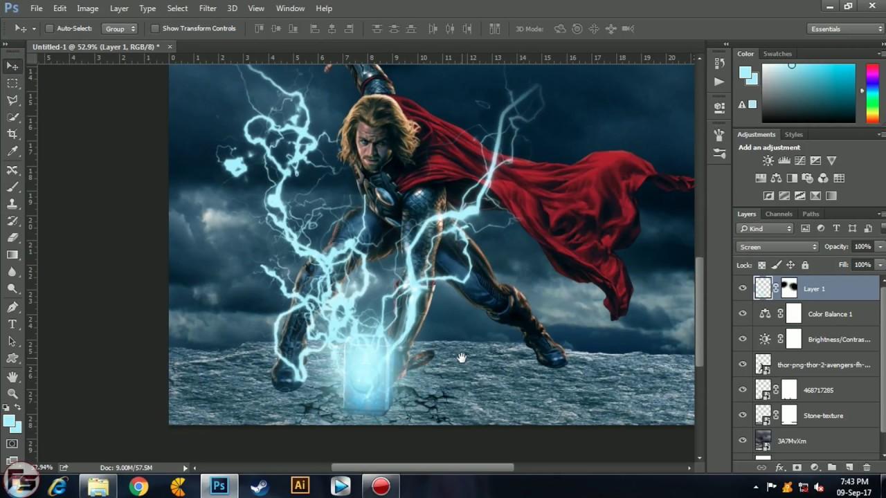 Thor Ragnarok Movie Poster Tutorial In Photoshop Cc 2014
