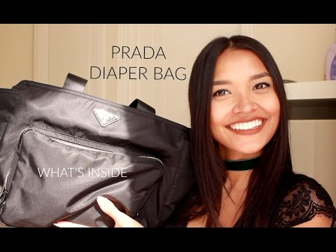 0d7297a5eec8 PRADA NYLON DIAPER BAG  REVIEW   WHAT S INSIDE - YouTube