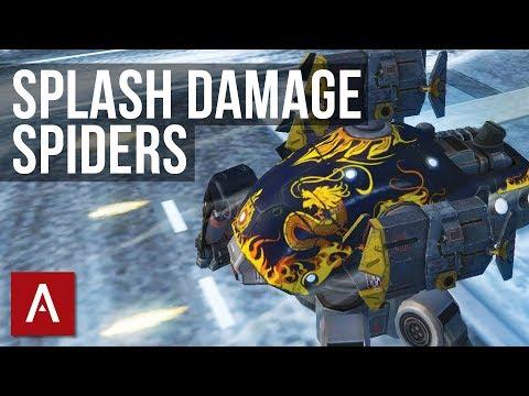 War Robots Gameplay: Splash Damage Spiders