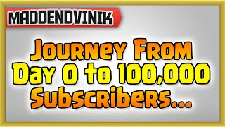 Clash of Clans - Journey From Day 0 to 100,000 Subscribers... THANK YOU SO MUCH!