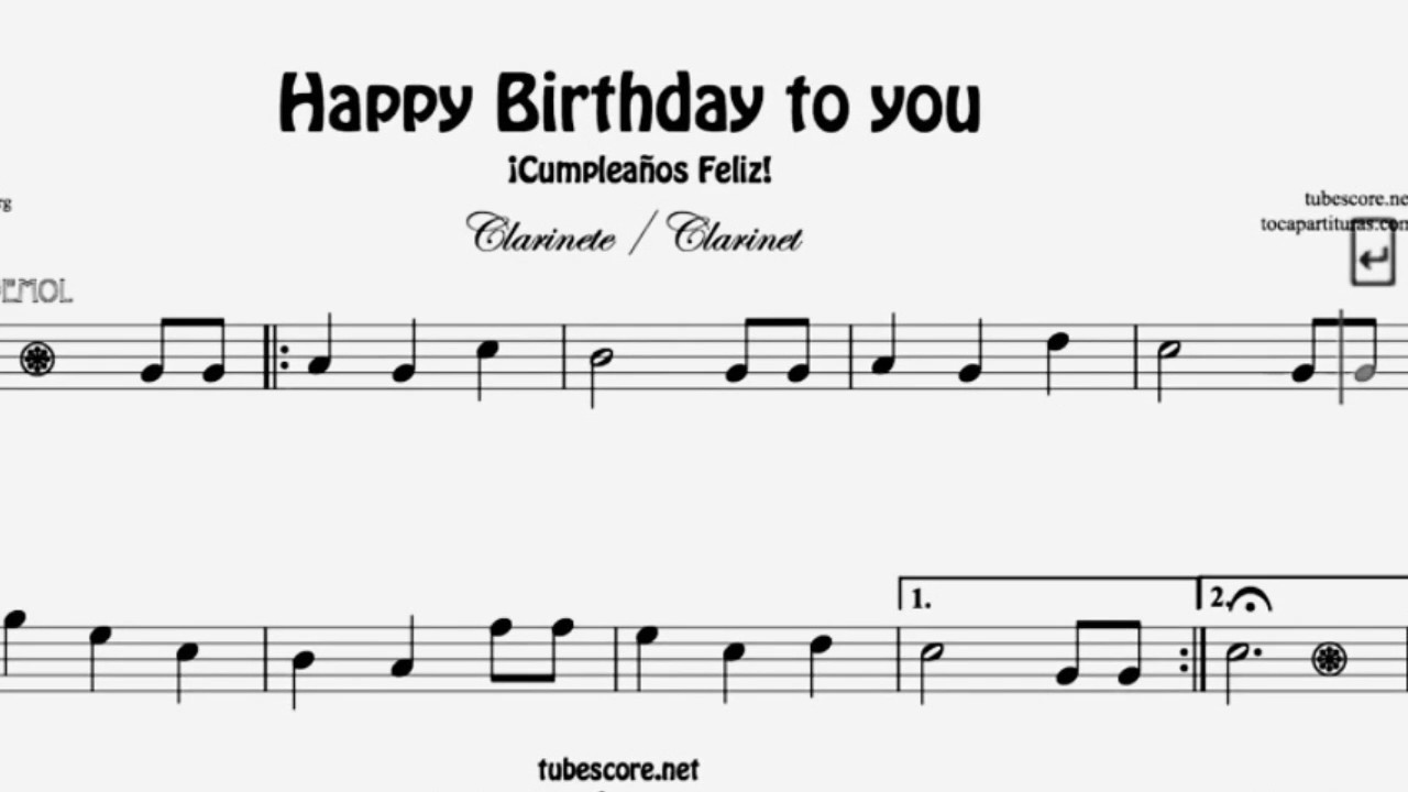How To Play Happy Birthday On The Clarinet