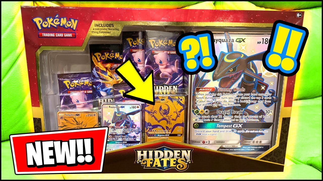 New Channel Hidden Fates 50 Shiny Rayquaza New Gold Cards Pokemon Opening