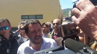 """Salvini: """"Sicilia non può diventare discarica di migranti. Ponte? Decidono i siciliani"""""""
