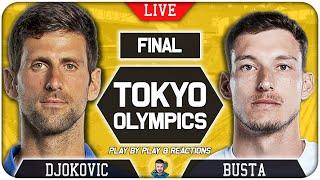 🔴 DJOKOVIC vs CARRENO BUSTA | Tokyo Olympic 2021 | LIVE Tennis Play-by-Play Stream