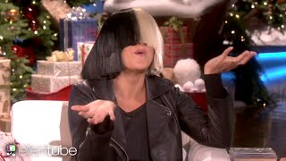 "Sia Reveals Her Face Takes Off Wig on Ellen & Performs ""Alive""! (Be Yourselfie)"