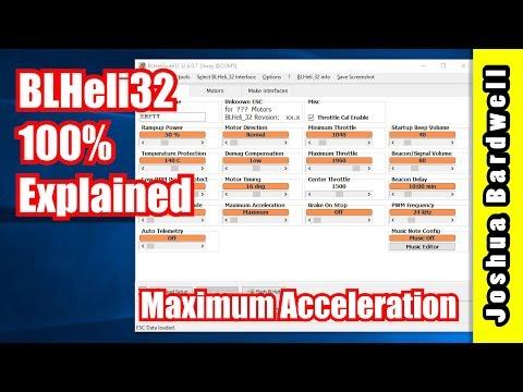 BLHeli32 100% Explained - Part 7 - Maximum Acceleration