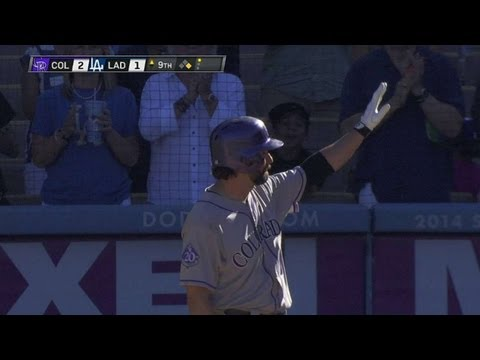 COL@LAD: Helton gets a standing ovation for final AB