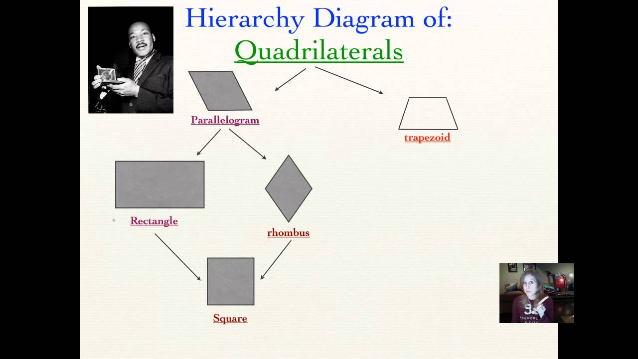 Lesson 8-5  Quadrilaterals  Hierarchy Diagrams
