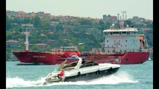 Chemical Oil Tanker Ship DUZGIT DIGNITY Floating at Sea in Turkey