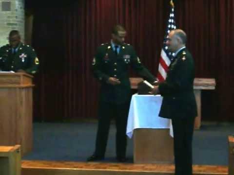 US Army Chaplain Assistant AIT Graduation Receiving of Diplomas