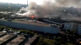 Крупный пожар на юге Москвы .Часть 1