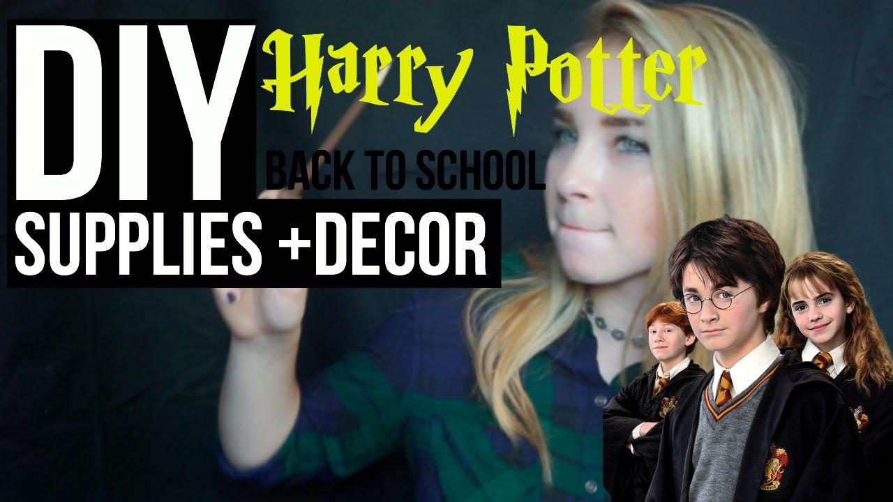 DIY Harry Potter School Supplies + Decor (GIVEAWAY WINNER) - YouTube