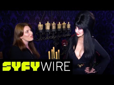 Elvira, Mistress of the Dark Gives Us a Backstage Tour of Her Halloween   SYFY WIRE