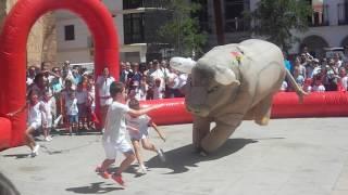 Recortes de niños a toros en feria 2016 Manzanares