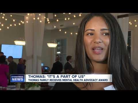 Thomas family receives mental health advocacy award thumbnail