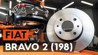 Hoe een remschijven achteraan vervangen op een FIAT BRAVO 2 (198) [AUTODOC-TUTORIAL]