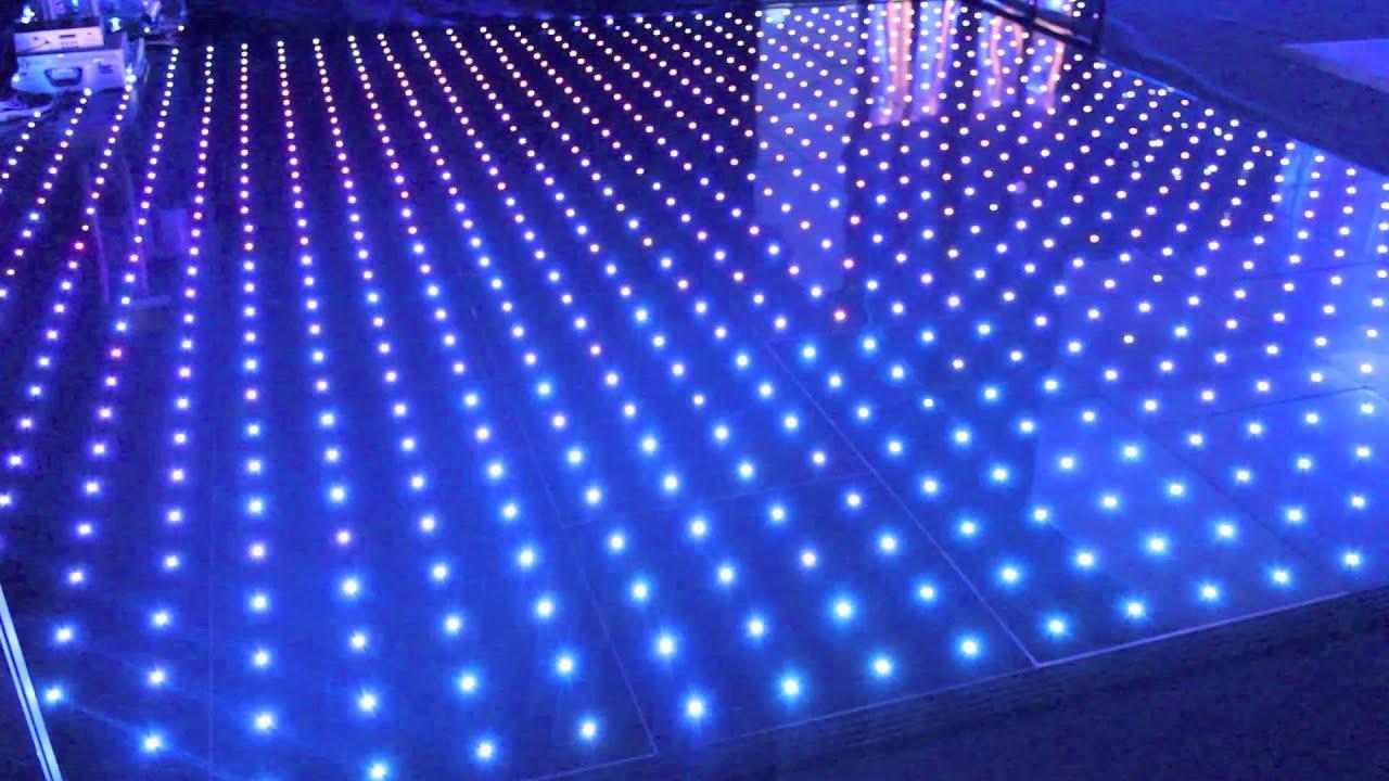 3d Tunnel Wallpaper Illuminated Led Pixel Rgb Visualisation Dance Floor Youtube