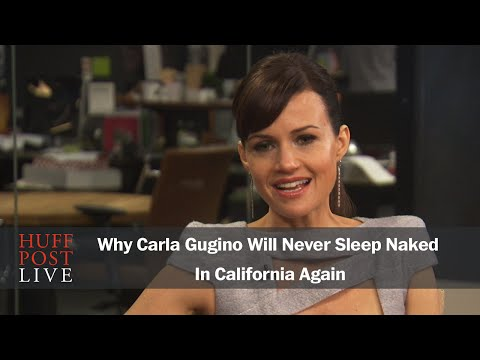 Why Carla Gugino Will Never Sleep Naked In California Again