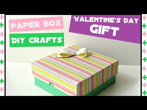 How to make an Easy Paper Box DIY Paper crafts for teenagers