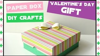 How to make an Easy Paper Box - DIY Paper crafts for teenagers - Handmade Gift Ideas - Giulia's Art