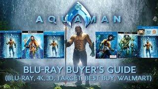 AQUAMAN - 4K/BLURAY UNBOXING (BLURAY, 4K, 3D, TARGET, WALMART, BEST BUY) - BLURAY BUYERS GUIDE