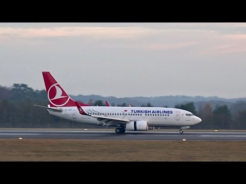 Turkish Airlines - Boeing 737-700 Landing at Luxembourg Airport