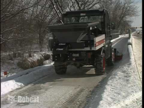 Bobcat Spreader Attachment Youtube