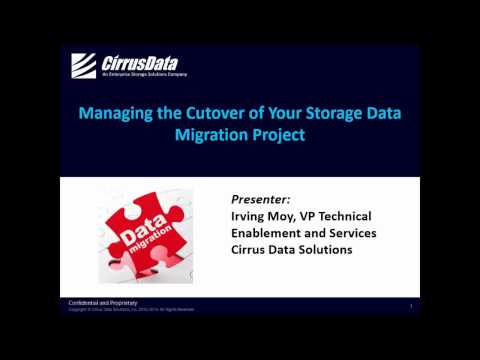 Managing the Cut-Over of Your Data Migration Project - Webcast