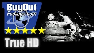 HD Historic Stock Footage WWII Normandy Invasion Airborne Assault Over France Reel 4