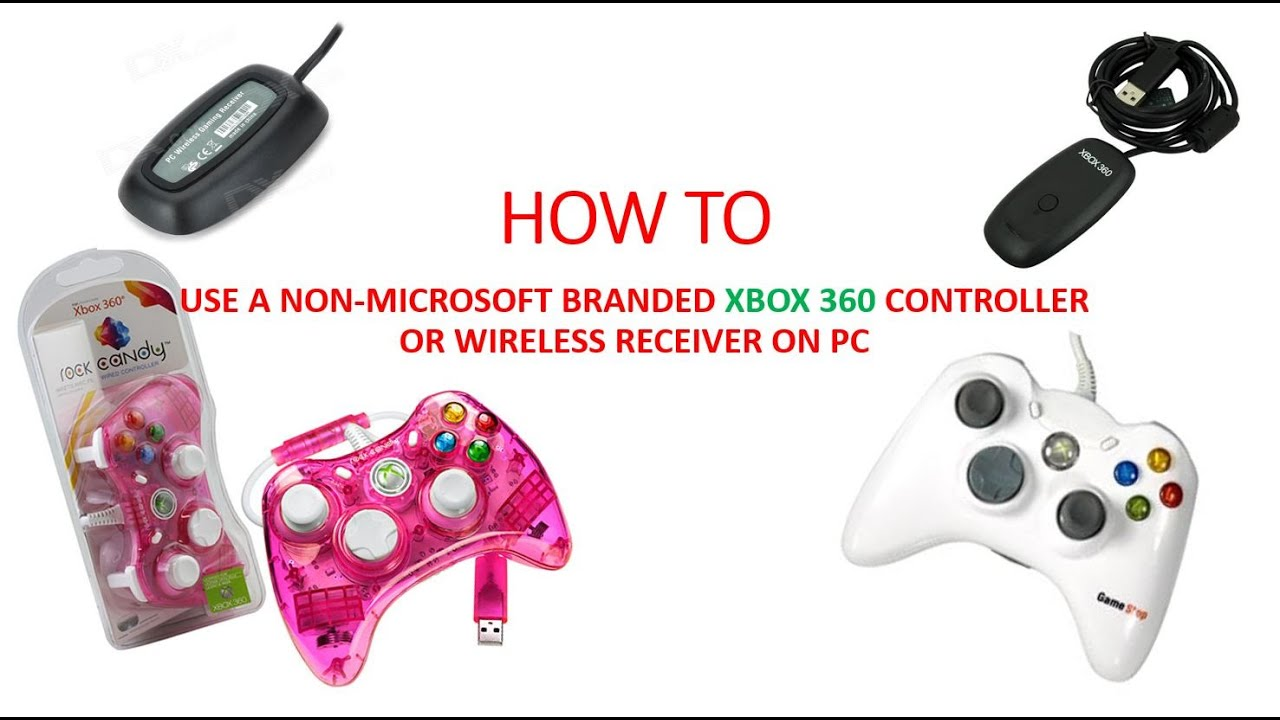 How to Make any Xbox 360 Controller or Wireless Adapter Work on ...