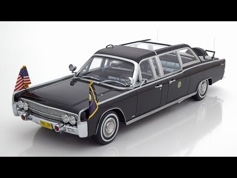 Kennedy 1961 darkblue-metallic 1:18 CMF Lincoln Continental x100 J.F