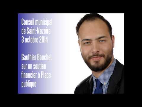 CM de Saint-Nazaire, 03.10.14 — Gauthier Bouchet — Soutien financier de la Ville à Place publique
