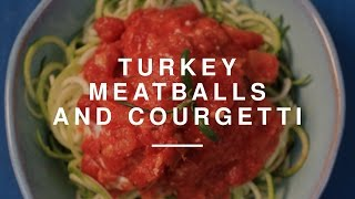Eat Healthy On A Budget - Turkey Meatballs w Courgetti  Madeleine Shaw  Wild Dish