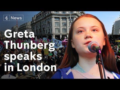 Greta Thunberg full speech at Extinction Rebellion protest in London