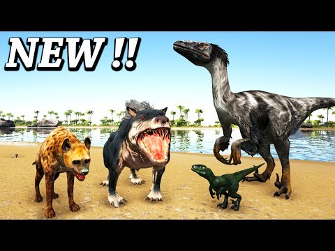 ARK NEW HYBRID DINO + DAKOTARAPTOR, GIANT HYENA & MORE!! Ark Additional Creatures & Hybrid Dino Mod