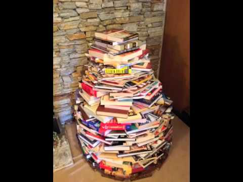 How to make your very own Christmas tree out of books ...