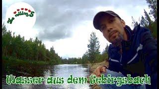 Wasser aus dem Gebirgsbach   autark   Mit dem Wohnmobil in Schweden