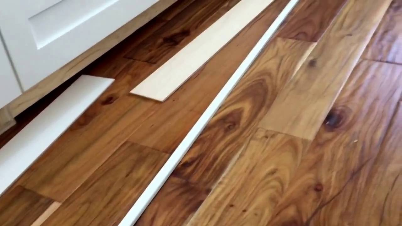 How to install cabinet toe kick base on an unleveled floor ...