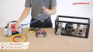 цифровой манометрический коллектор для кондиционеров и холодильных установок ROTHENBERGER ROCOOL 600