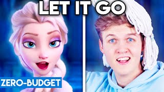FROZEN WITH ZERO BUDGET! (Let It Go PARODY)