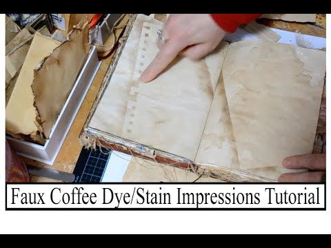 Faux Coffee Dyed/Stain Impressions Tutorial