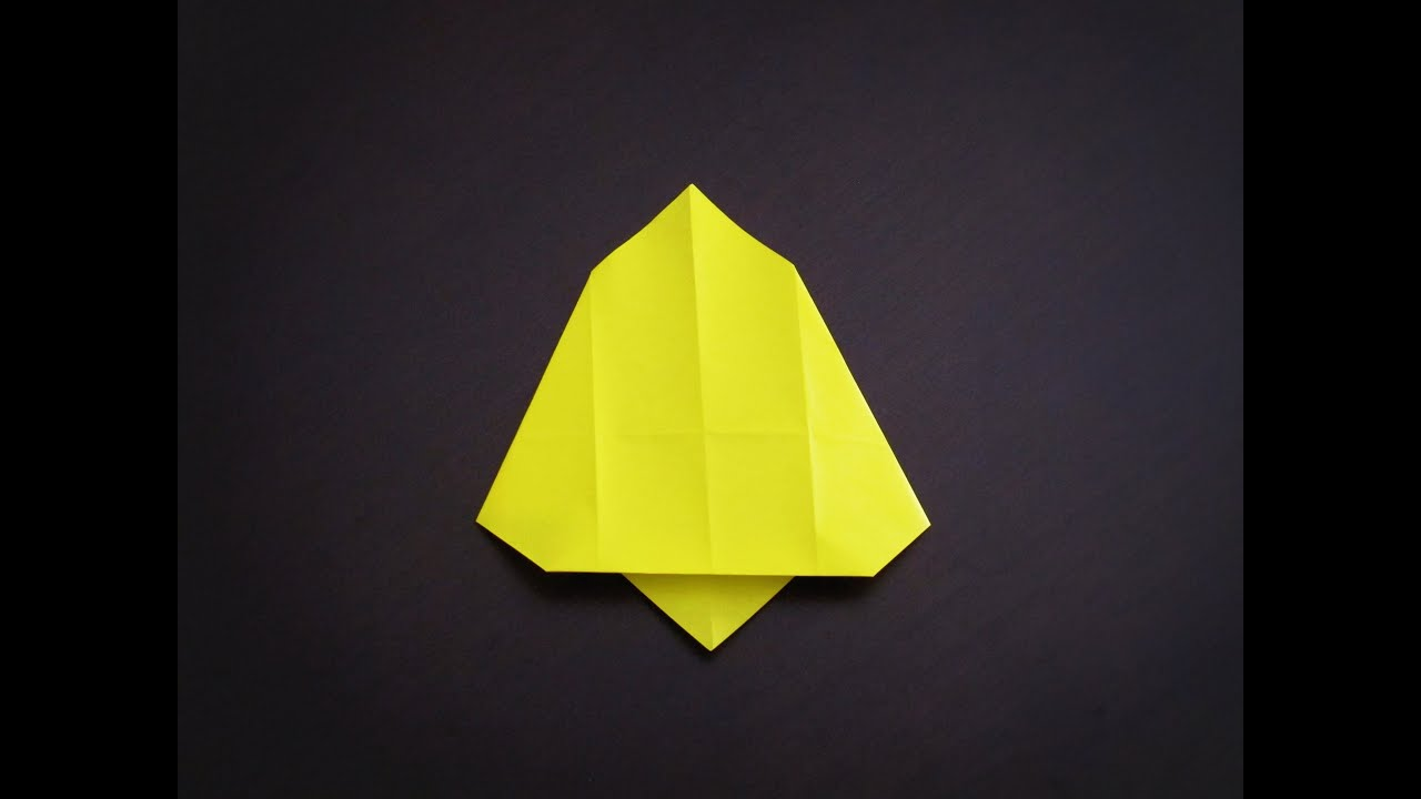 origami how to make a simple bell christmas decoration youtube