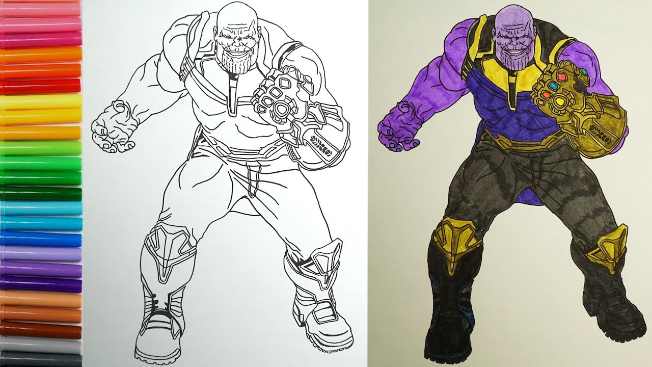Drawing Thanos - Avengers Infinity War Coloring Page ...