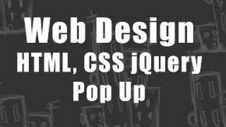Web Design - HTML CSS & jQuery - Pop up