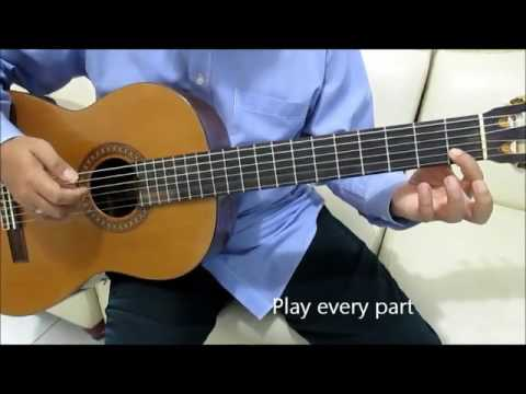 Say Something Guitar Tutorial No Capo ( Intro & Chorus ) - A Great Big World & Chistina Aguilera