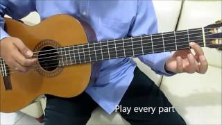Say Something Guitar Tutorial No Capo ( Intro & Chorus ) - A Great Big World & Chistina Aguilera